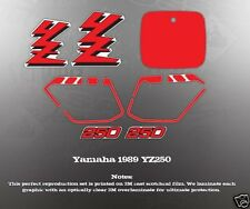 YAMAHA 1989 YZ250 DECAL GRAPHIC KIT LIKE NOS