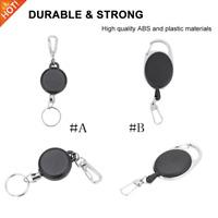 Badge Reel Pull Ring Retractable Key Chain Keyring Heavy Duty Steel Cord.