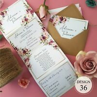 Personalised Wedding Invitations - Day or Evening Invites With Envelopes - SALE