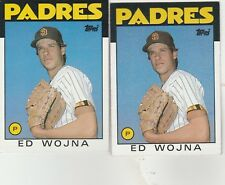 FREE SHIPPING-MINT-1986 Topps #211  Ed Wojna  Padres-2 CARDS