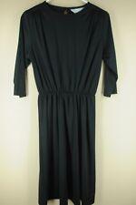 Vintage Blair Mujer Negro Poliéster 24.4ms Vestido Talla 6P Pequeño