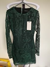 Mini Vestido Lavish Alice Verde Encaje Talla UK6