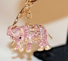 TRADITIONAL INDIAN RHINESTONE KEYRING BAG CHARM ELEPHANT BLING  GIFT COLLECTIBLE