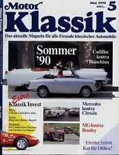 3018MK Motor Klassik 1990 5/90 Kafer Cabrio Cadillac 62 Mercedes 220S TR4 365GTB