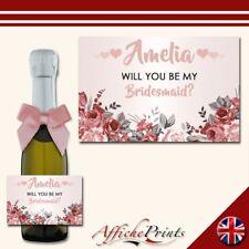 L42 Personalised Mini Individual Prosecco Bottle Custom Label Party Bridal