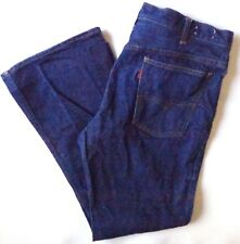 LEVIS Big E Jeans Mens 646 Vintage Bell Bottom Orange Tab Denim 36 x 29