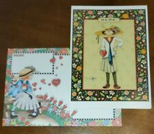 """Mary Engelbreit greeting card, """"Here"""" Girl with heart"""