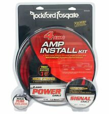 Rockford Fosgate RFK4I 4 Gauge Amplifier/Amp OFC Wiring/Wire Install Kit+RCA