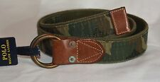NWT Polo Ralph Lauren SIZE S SMALL Mens Camo Camouflage O Ring Belt