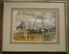 Robert Gray, LISTED, National Watercolor Society, modern MODERNISM mod signed