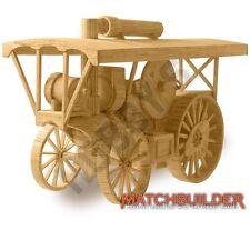 Hobby's Matchbuilder c.1910 Steam Traction Engine Matchstick Model Kit -T48 Post