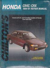 1984-1991 Chilton Honda Civic & CRX Repair Manual