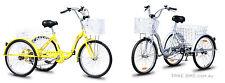 2 Trike Bike Adult Tricycle 3 Wheeled Bicycle 6 Gears Retro Vintage Tourer Trike