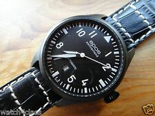 EPOS Sportive Mechanical Swiss Military [BLACK PVD] Flieger pilot automatic 3397