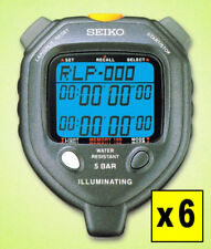 [ LOT OF 6 ] Seiko S058 100-Lap Backlit Stopwatches: 5% DISCOUNT, FREE SHIPPING!