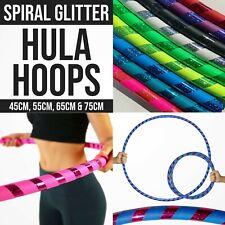 Multicolour Hula Hoops Kids Glitter Spiral Exercise Plastic Childrens Hoola Hoop