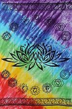 "Chakra Lotus Rainbow Tapestry 58 x 82"" Wiccan Pagan Altar Supply WTCHAL"