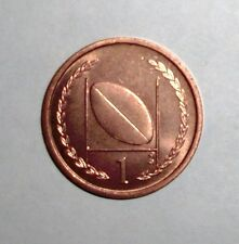 1997 Isle of Man 1 pence, Football, Rugby, field goal, coin