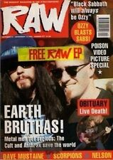 Scott Ian of Anthrax on RAW Cover 1990  The Cult  Megadeth Motley Crue Metallica