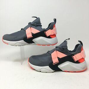 Nike Air Huarache City Running Sneakers Womens 11 Grey Pink Low Top AH6804-008