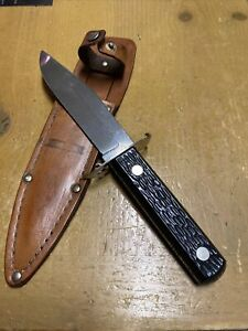 VINTAGE 50's-60's Colonial Fixed Blade Bowie Knife With Original Sheath-USA 🇺🇸