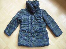 ESPRIT Mädchen Wintermantel Winterjacke blau grün Gr 116 122 128 TOP