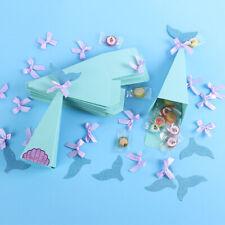 10pcs Candy Boxes Mermaid DIY Gift Box Little Mermaid Party Decor Theme Boxes