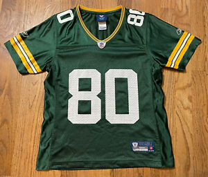 Women's Small Green Bay Packers Donald Driver Jersey S NFL Vintage Reebok #80