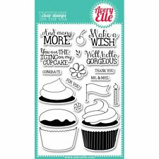 """Avery Elle Clear Stamp Set 4""""X6"""" Cupcakes - NEW"""