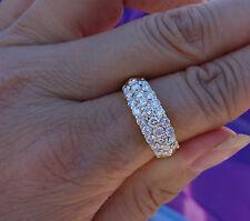 1.40ct G/VS 3 rows diamond wedding anniversary or right-hand ring 22k YG