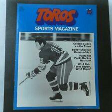 1973 Toros Hockey Magazine Program Toronto Toros vs New York Golden Blades