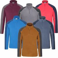 Mountain Warehouse Micro Fleece Zip up Jacket Breathable Anti Pill Funnel Jumper