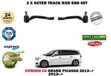 FOR CITROEN C4 GRAND PICASSO 2013->2X OUTER LEFT + RIGHT STEERING TRACK ROD ENDS