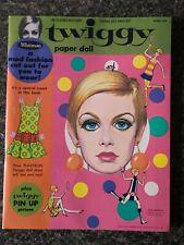 Twiggy Paper Doll Book - Vintage Original Whitman/1967 Minnow NOS Mint Unused