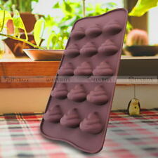 DIY Emoji Poop Face Silicone Mold Cake Chocoloate Candy Biscuit Baking Decor