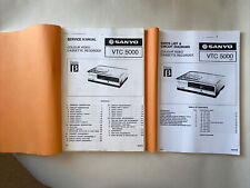 More details for sanyo vtc 5000 vcr video recorder service manual & parts list/circuit diagrams