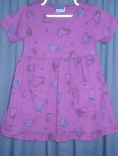 Honors Girls Dress 2T Purple Hearts 2 Pockets Short BG79