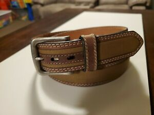 Brand New Berne Thick Leather and Canvas Heavy Duty Work Belt Size 40