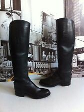 $1100  Dehner USA Boot Company Custom Dress Boots Equestrian Black SZ US 7.5-8