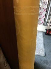 4.90m Yellow Gold Ecru Chinese Japanese Oriental Script Jacquard Curtain Fabric