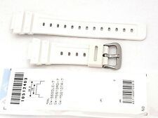 CASIO WATCH BAND:  10512403   BAND FOR DW-5600 GWM5610 White Resin Band