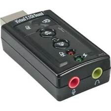 InLine USB Adattatore Audio, USB AST - > 2 xklinke BU virt. 7.1 surround sound nero
