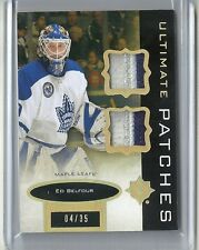 2013-14 Ultimate Collection ED BELFOUR Ultimate Patches Serial # 4 of 35