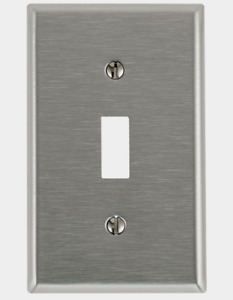 New! LEVITON Stainless Steel SILVER 1 Gang TOGGLE WALL PLATE 4-7/8 in. 84001-000