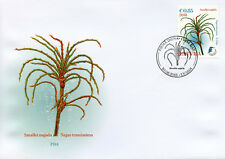Latvia 2018 FDC Delicate Naiad 1v Cover Aquatic Plants Kingfishers Birds Stamps