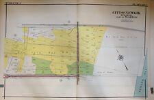 ORIG 1927 E. ROBINSON NEWARK NEW JERSEY PORT - ASTOR ST. NY BAY RR ATLAS MAP