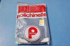 VETEMENT VINTAGE SOUS PULL ENFANT  8ans Polichinelle blanc et marine -//garage//