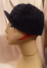 Unisex Pre-owned Dark Blue URBAN OUTFITTERS Beanie HAT w/ Visor, One Size, Warm