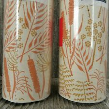 Vintage Shelf Drawer Liner M Lady No Bugs Covering Paper Orange Floral 2 Rolls