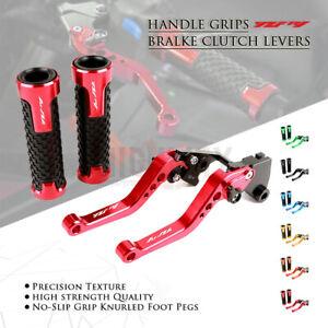 Short Adjustable Brake Clutch Lever & Handle Grips Bar for YAMAHA YZF R1 09-14
